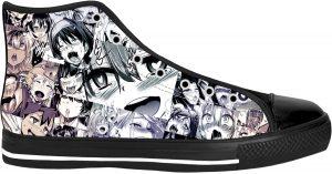 Ahegao Shoes - High Top Converse Anime Hentai Shoes (Copy)