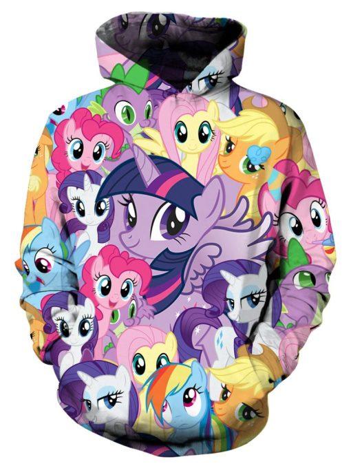 My Little Pony Ahegao 3D Hoodies