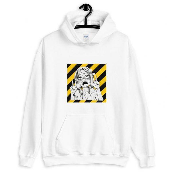 white hentai hoodie - My Ahegao Hoodie